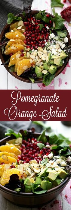 Pomegranate and Orange Christmas Salad