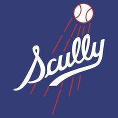 Vin Scully - Los Angeles Dodgers Style Logo