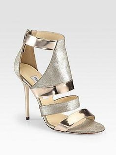 82db02b3178c Shop for Besso Metallic Mirror Leather Glitter Sandals by Jimmy Choo at  ShopStyle.