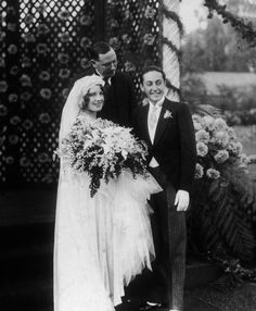 Norma Shearer & Irving Thalberg at their October 3, 1927 wedding