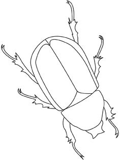 beetle coloring page: Embroidery Art, Cross Stitch Embroidery, Embroidery Patterns, Cross Stitch Patterns, Insect Coloring Pages, Colouring Pages, Beetle Bug, Outline Drawings, Insect Art