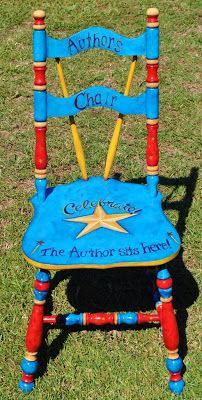 Great idea! Have a special chair just for writing! Painting it could be a project with your kids.