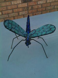 Mosaic Metal Dragonfly