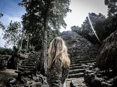 Most visitors to the amazing Mayan ruins at Coba in the Quintana Roo province of Mexico do so on a… Coba Ruins, Mayan Ruins, Quintana Roo, Travel Guides, Adventure Travel, Travel Inspiration, Buddha, Travel Destinations, Travel Photography