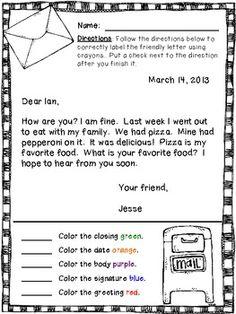 FRIENDLY LETTER WRITING {EVERYTHING YOU NEED!} - TeachersPayTeachers.com