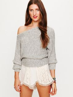Horizontal Rib Marled Sweater not a fan of the skirt