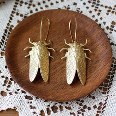 Fab.com | Cicada Metamorphosis Earrings