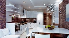 Types and Features of Modern Kitchen Designs.  #ModernKitchenDesigns #ModernKitchens