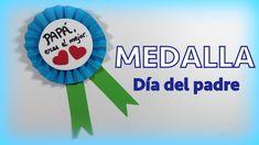 Medalla de papel para regalar el día del padre muy fácil - http://www.manualidadeson.com/medalla-papel-dia-del-padre.html