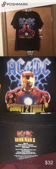 AC/DC Iron Man 2 shoot 2 thrill tShirt Size medium Good condition Shirts Tees - Short Sleeve