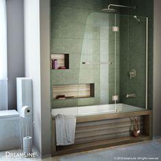 DreamLine Aqua 48-in W x 58-in H Frameless Bathtub Door