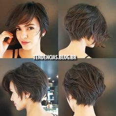 Pixie-Bob-Cut Latest Short Haircuts For - Hair Beauty Popular Short Haircuts, Cute Short Haircuts, Haircut Short, Bob Haircuts, Hairstyles Haircuts, Pixie Bob Haircut, Short Thick Wavy Haircuts, Pixie Haircut For Thick Hair, School Hairstyles