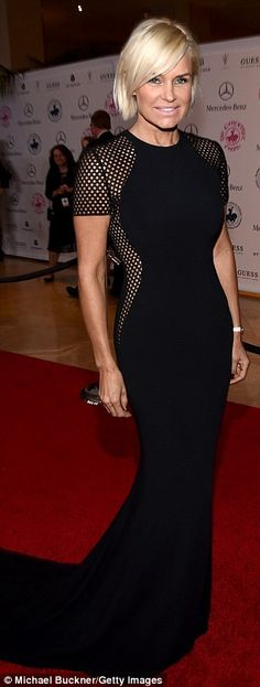 RHOBH co-stars Yolanda Foster and Lisa Rinna wear the same black gown to the Carousel of Hope Ball | Daily Mail Online