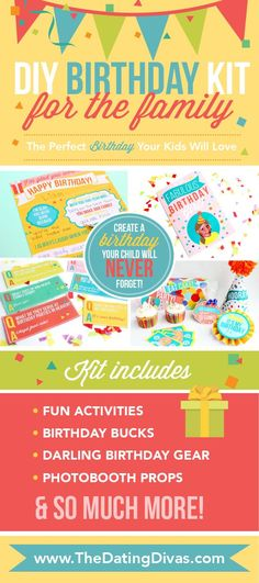Birthday bucks, banners, cards, and so much more! Fun Birthday printables from The Dating Divas Diy Birthday Kit, Cute Birthday Ideas, Birthday Gifts, Birthday Blast, Birthday Wishes, Birthday Traditions, Birthday Celebration, Birthday Party Themes, Family Birthdays