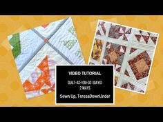 Video tutorial: Quilt-as-you-go (QAYG) 2 ways | Sewn Up