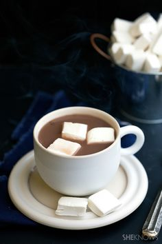 How to make creamy hot cocoa in the slow cooker, plus some topping ideas