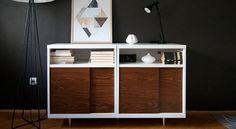 Retro en IKEA gaan best goed samen! Zeker als je met deze toffe IKEA hack het saaie BESTÅ kastje omtovert tot mid-century designmeubel!