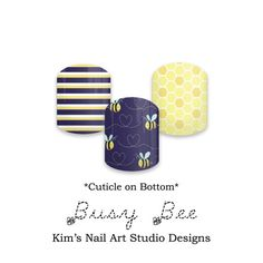 "Busy Bee:  If you want to get these beauties of your fingers and toes, head on over to my Jamberry Nail Art Studio Marketplace!  Simply click on the image above and it will direct you right to the listing!  To see more of my designs and some special sales, join my Facebook group ""Kim's Nail Art Studio Designs"" at www.facebook.com/groups/925106354278688 Thanks for the interest in my designs!"