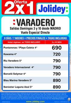 Oferta 2x1 Noviembre a Varadero desde 690€ Tax incl. Salidas 3 y 10 de noviembre - http://zocotours.com/oferta-2x1-noviembre-a-varadero-desde-690e-tax-incl-salidas-3-y-10-de-noviembre/