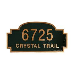 Montague Metal Products Chesterfield Standard Address Plaque Finish: Antique Bronze/Gold, Mounting: Lawn