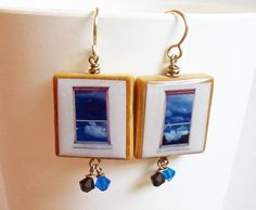 Windows of Taos Photo Earrings by Ann Widner (me!) ...These earrings capture just a glimpse of the spirit of Taos. I was in awe of the sky, the colors, the shadows and reflections. I hope I can return someday!