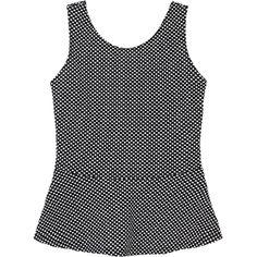 Metropolis. Modelo: G815B0405293TAT. Blusa en tela jacquard, estampado de de lunares, sin mangas.