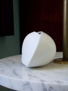 Abstract white vase by Uta Feyl for Rosenthal c 1980s  http://www.etsy.com/listing/180993030/rosenthal-studio-line-white-vase?ref=shop_home_active_1