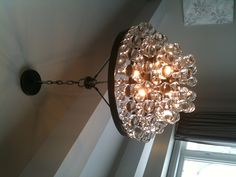 Dining room light I'd go with different glasses for your house , great idea though ..