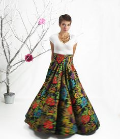 Maxi Skirt Long Circle Skirt Plus Size High Waisted от FatBerry