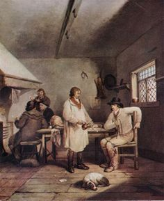 An Ale-house Interior  Oil painting by George Morland, circa 1790