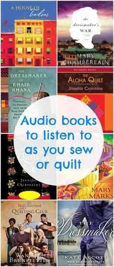 Audio books to listen to as you sew