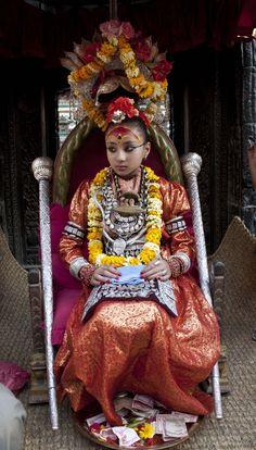 Living Goddess Kumari from Patan, Nepal