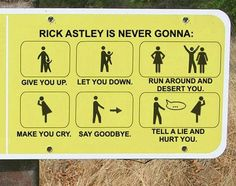 Rick Astley is never gonna...