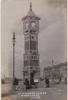 GLITTER CARD OF THE NEW TOWER CLOCK MORECAMBE