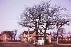 Red Lion island, Irlam Road, Flixton, Manchester in 1958
