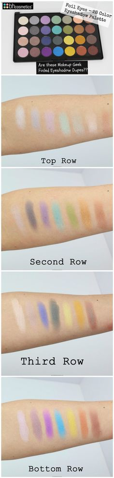 REVIEW + SWATCHES: NEW BH Cosmetics Foil Eyes – 28 Color Eyeshadow Palette
