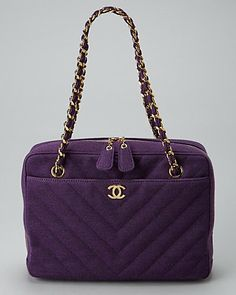 Chanel Purple Quilted Chevron Canvas Shoulder Bag Purple Quilts, Canvas Shoulder Bag, Chevron, Product Launch, Chanel, Purses, Boutique, Bags, Accessories