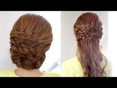 2in1 Braided Hairstyle Tutorial - YouTube | I need to practice my braiding skills. Woman is very talented and must have had lots of practice