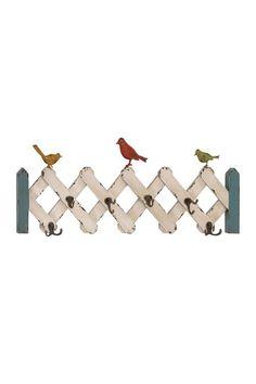 Bird Picket Fence Wall Hooks.