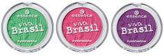 essence eyeshadows, viva brasil collection summer 2014