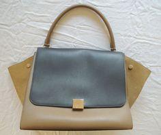 Celine Tri-Color Trapeze Bag  www.fullcirclefashion.com