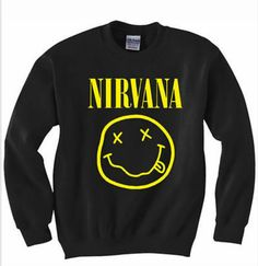Nirvana smileyface sweatshirt/jumper