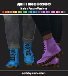 Aprilia Boots Recolors at Maimouth Sims4 • Sims 4 Updates