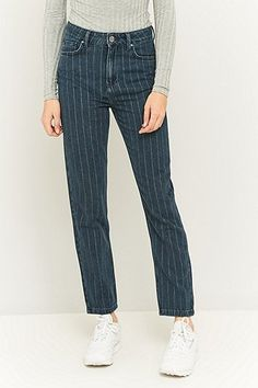 BDG Pin Stripe Mom Jeans