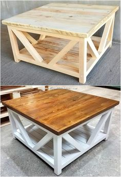Availing the use of wood pallet in the table form of structure designing is one of the dramatic idea to try out right now. See this image of awesome wood pallet project into which the table has been functionally set with the wood pallet material. Diy Furniture Plans Wood Projects, Wood Pallet Furniture, Diy Pallet Projects, Woodworking Projects Diy, Woodworking Furniture, Woodworking Plans, Pallet Ideas, Woodworking Equipment, Woodworking Inspiration