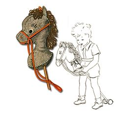 Instant Download Hobby Horse Toy Stuffed Animal by PatternsVintage