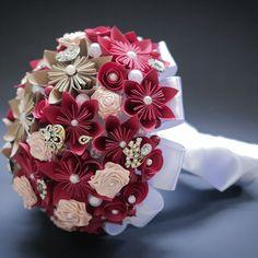 Buquê Noiva 08- Flores de Origami   S2 Noivas   Elo7