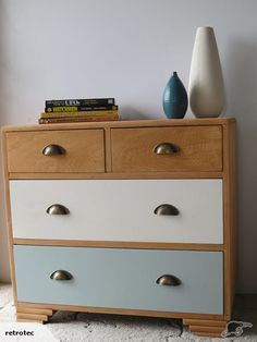 Rimu lowboy - upcycled Vintage lowboy – 1950s, solid Rimu, built to last, dovetailed drawers. More