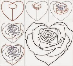 How to draw flowers step by step with pictures beautiful flowers how to draw a rose from a heart 2 ccuart Image collections