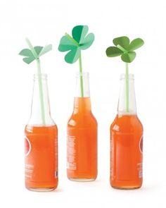 """See the """"Shamrock Straw Toppers"""" in our St. Patrick's Day Crafts and Decorations gallery"""